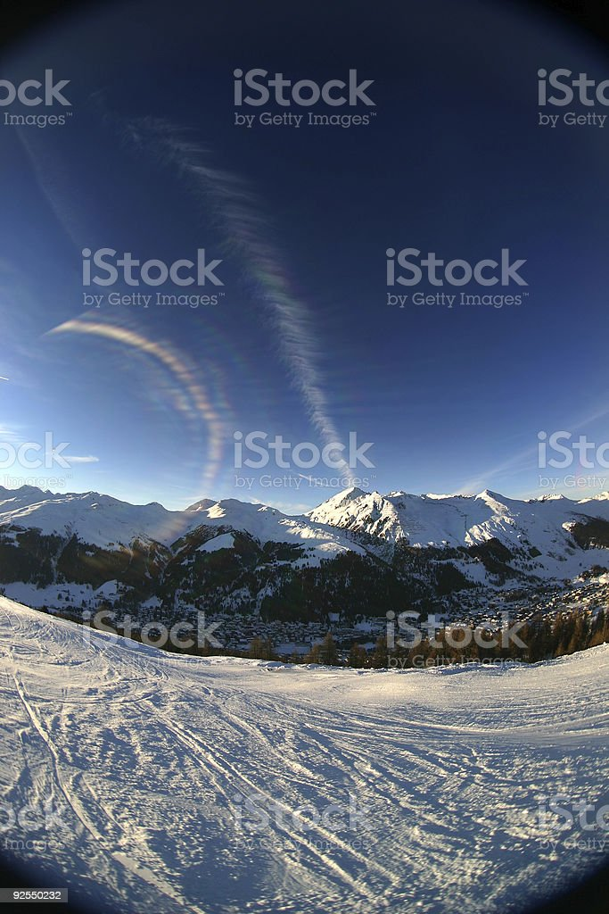 Alpine sunset 1 royalty-free stock photo