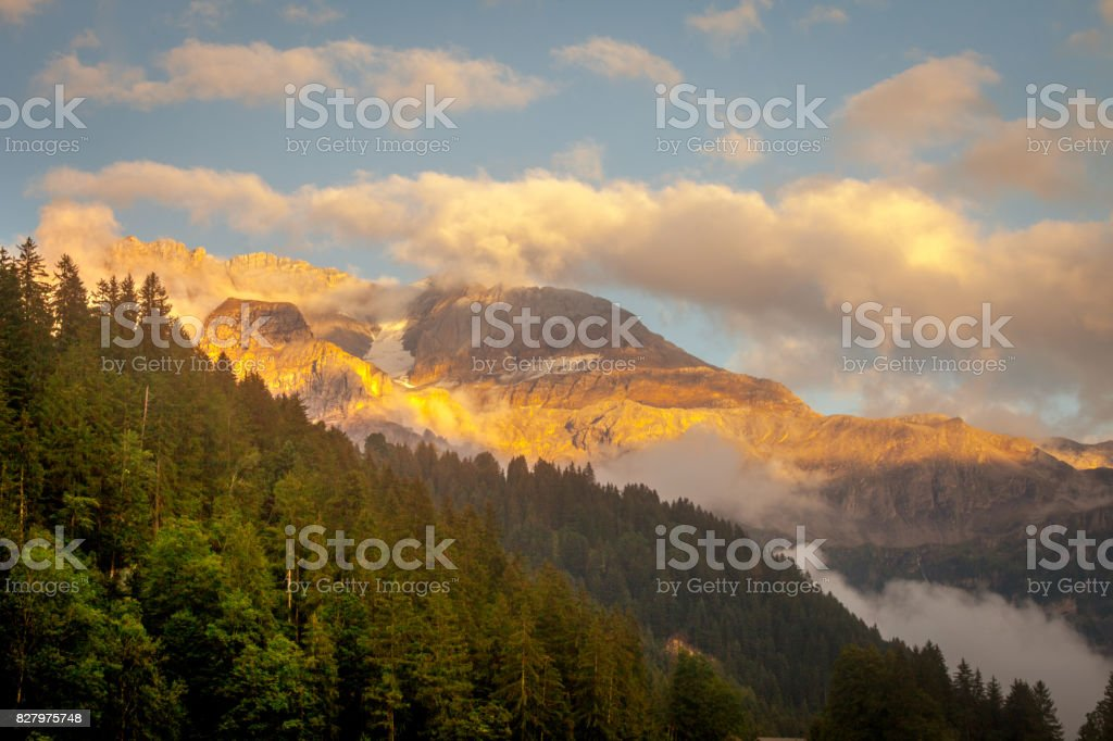 Alpine Sunset stock photo
