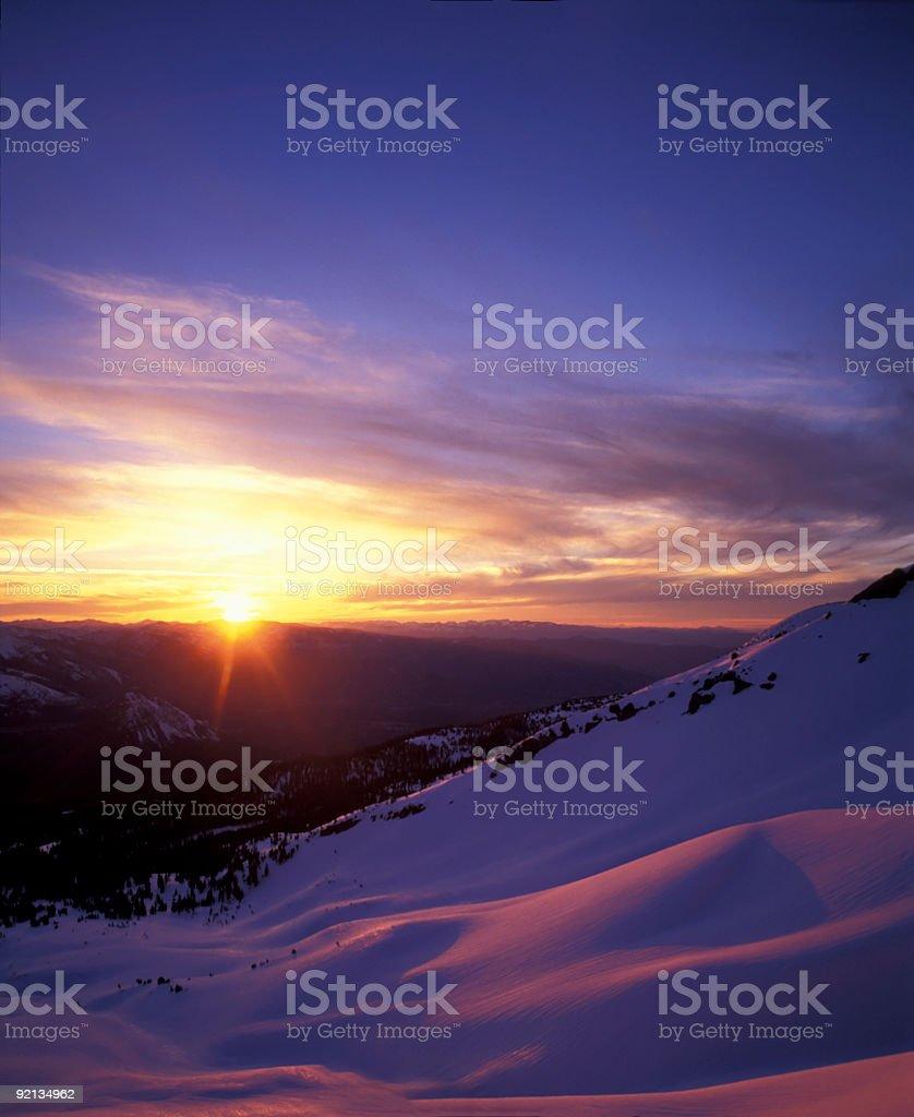 Alpine Sunset royalty-free stock photo