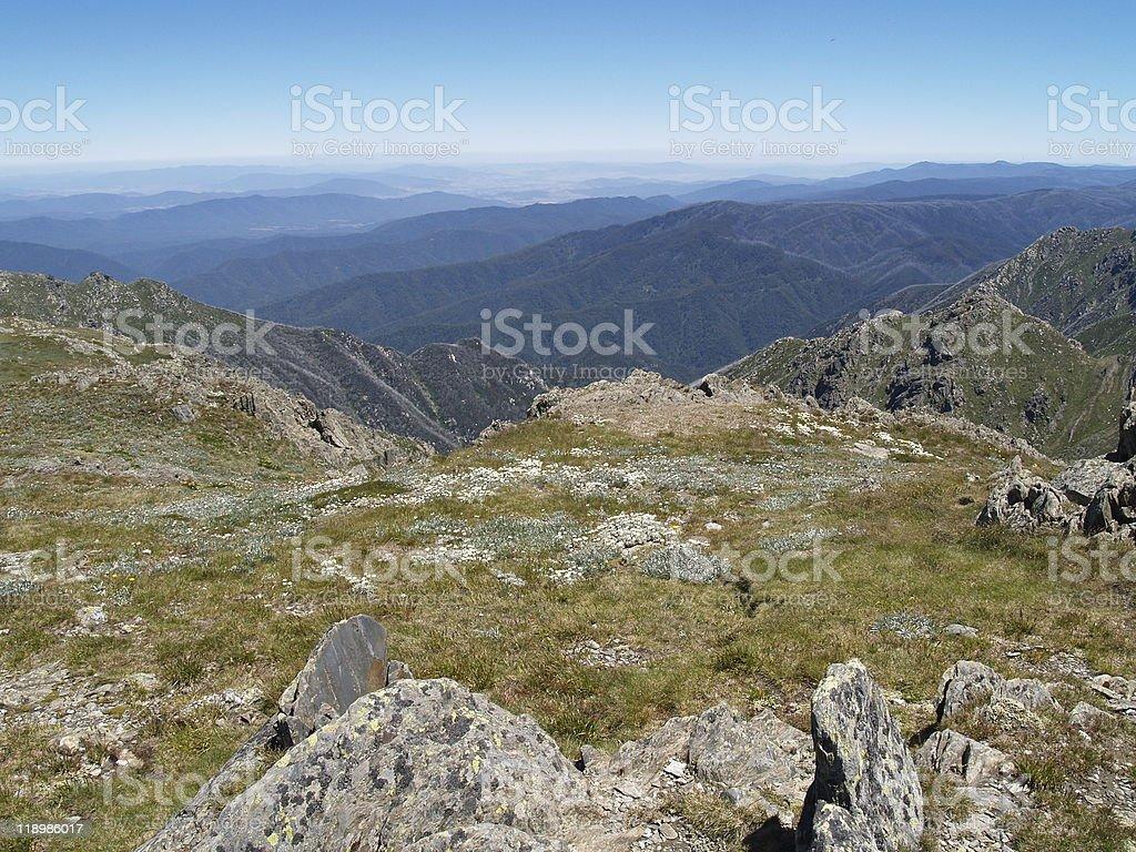 alpine terrain in kosciuszko national park stock photo