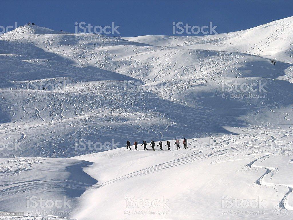 Alpine tour royalty-free stock photo