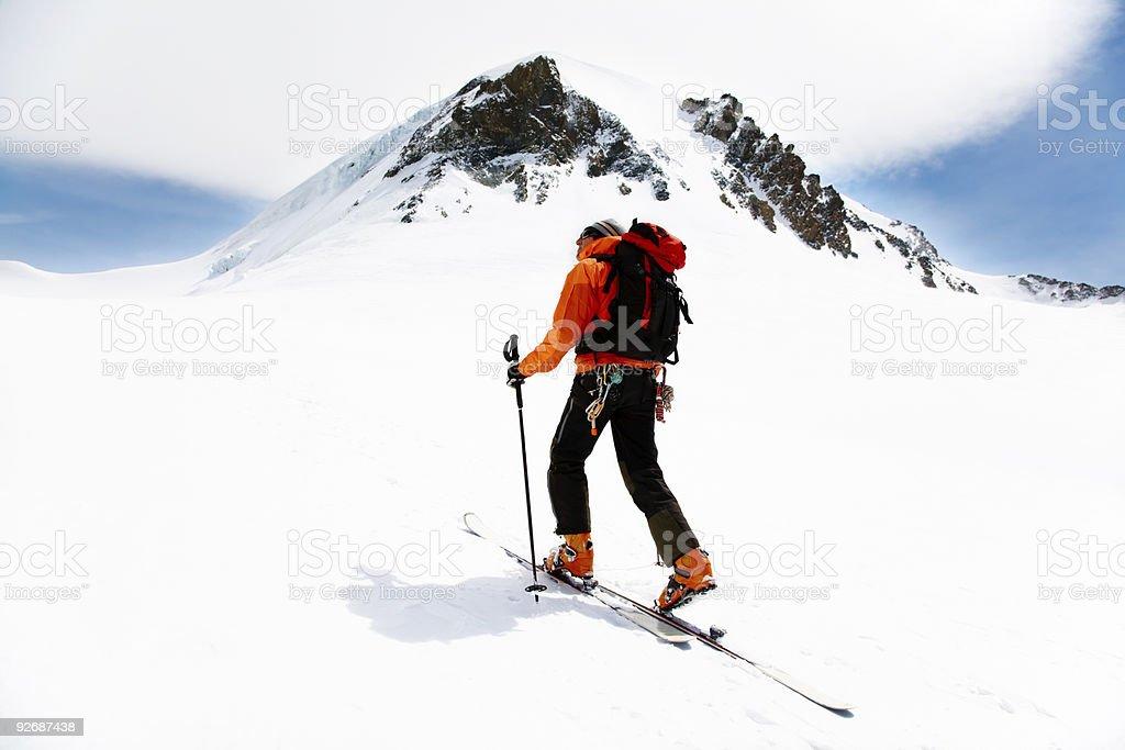 Alpine Touring stock photo