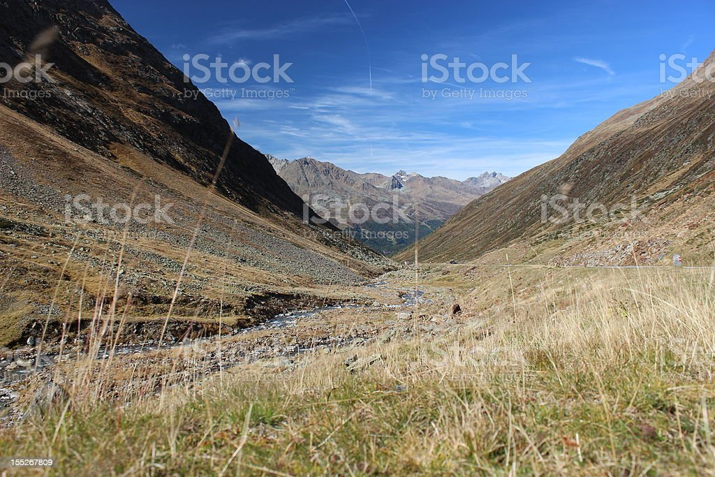 Alpine Valley royalty-free stock photo