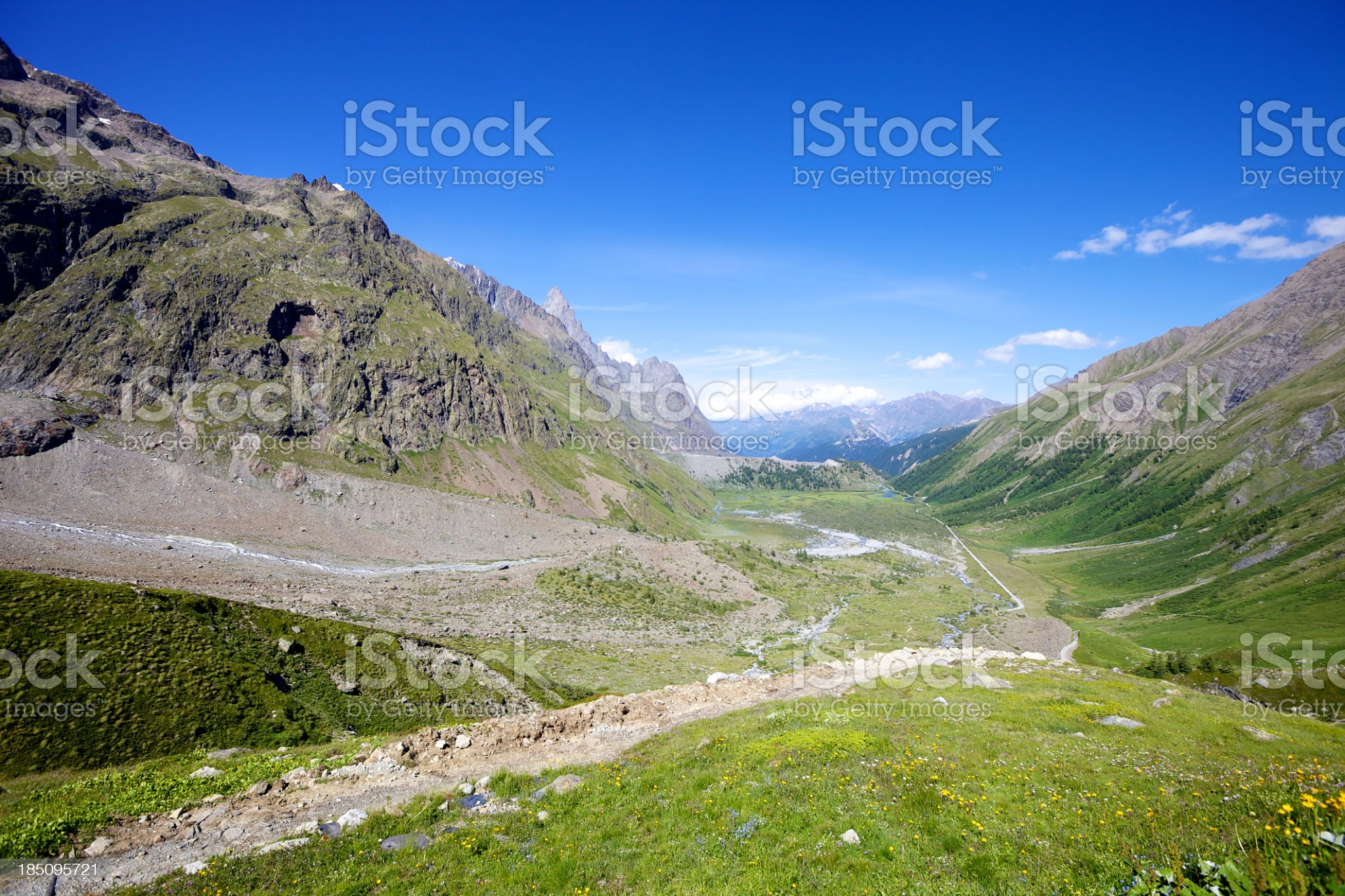 Alpine Valley royalty-free stock photo