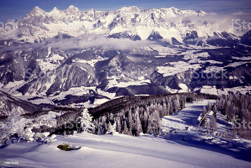 Alpine Valley-Austria stock photo