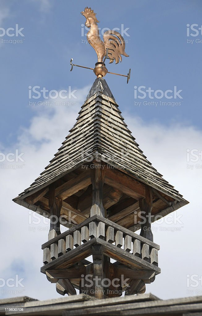 Alpine vane stock photo