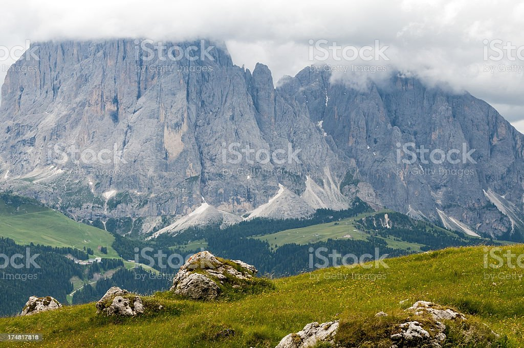 Alpine landscape in northern Italy royalty-free stock photo