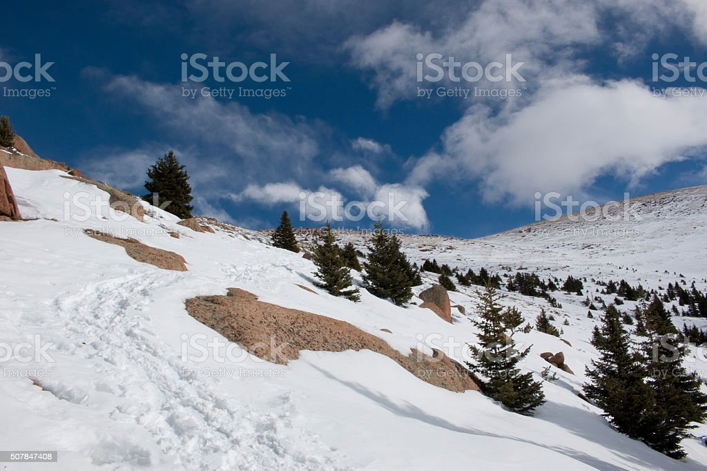 Alpine View from Pikes Peak stock photo