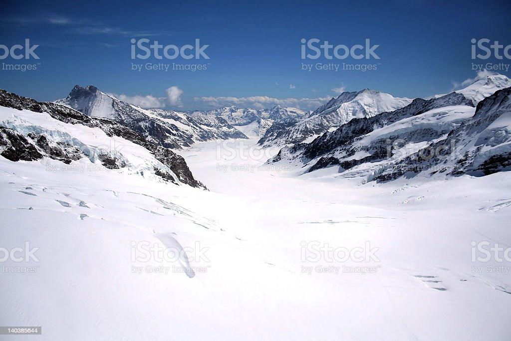 'Alpine view', Glacier Jungfraujock, Switzerland royalty-free stock photo