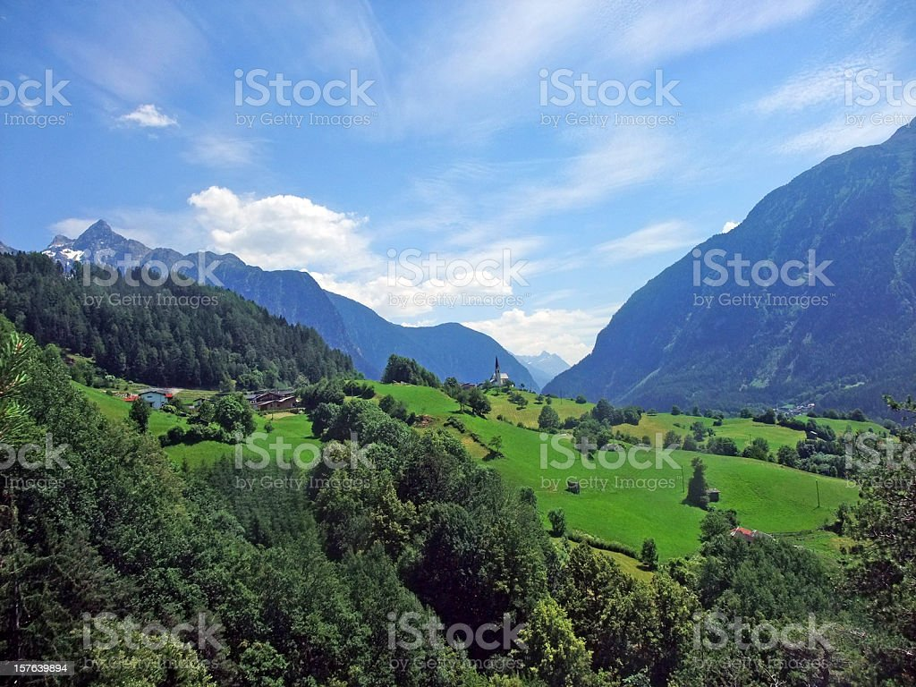 alpine Blick ins Zillertal royalty-free stock photo