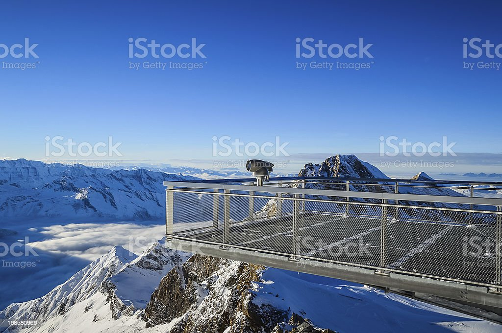 Alpine view over the abyss royalty-free stock photo