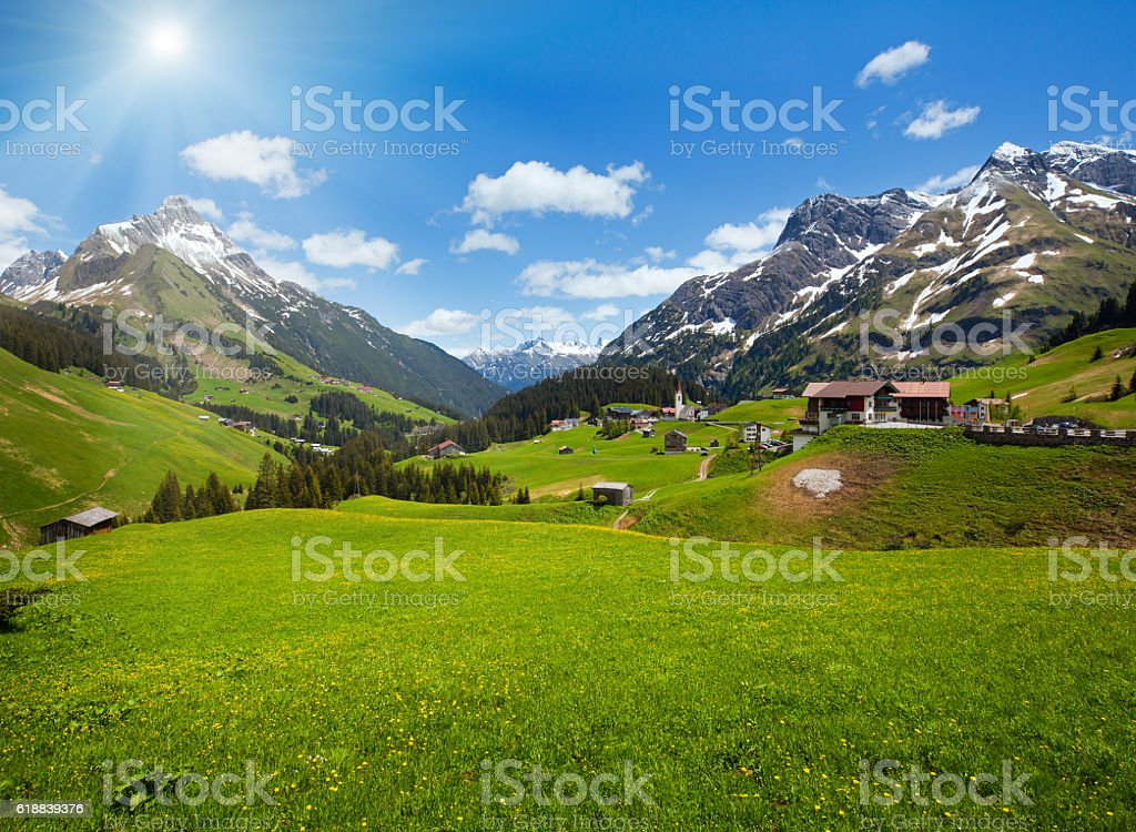 Alpine view (Vorarlberg,Austria) stock photo