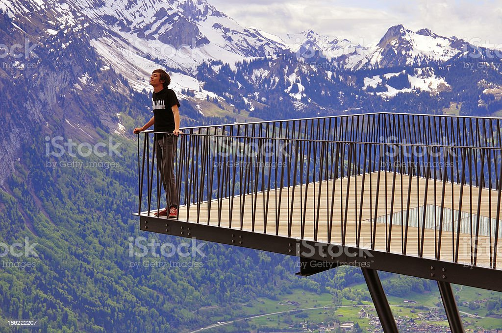Alpine viewpoint stock photo