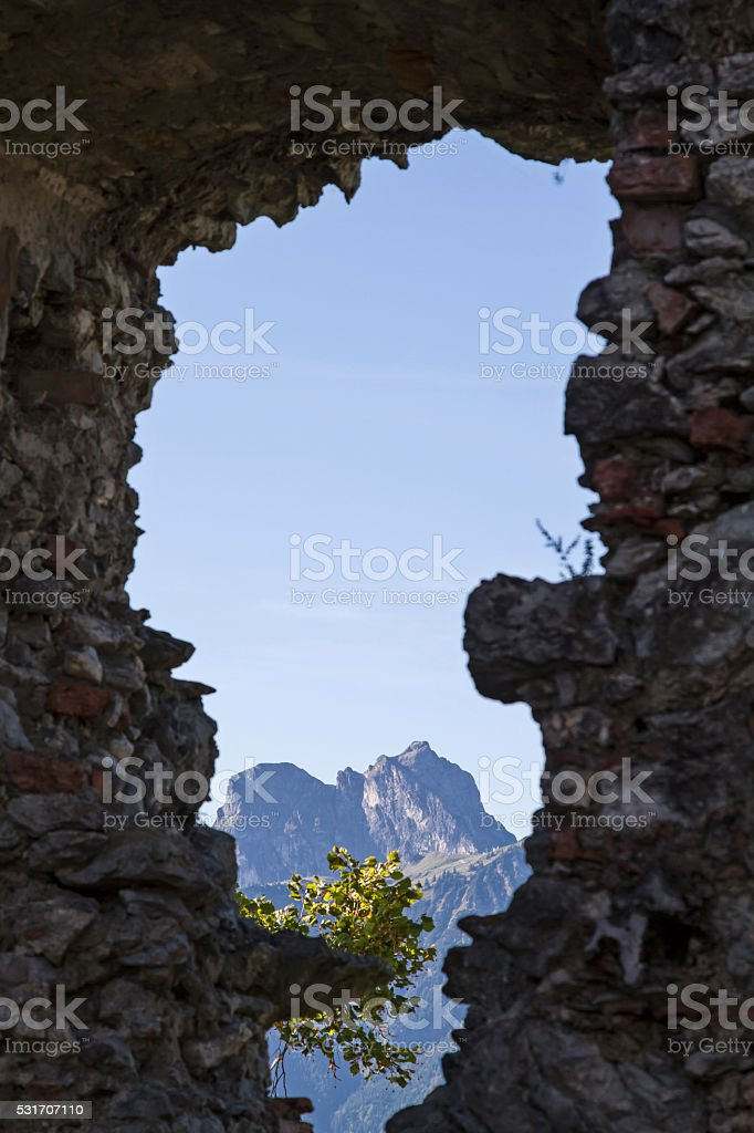 Alpine views stock photo