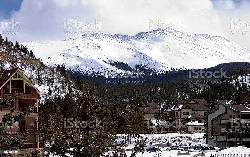 Alpine Village Breckenridge, Colorado stock photo