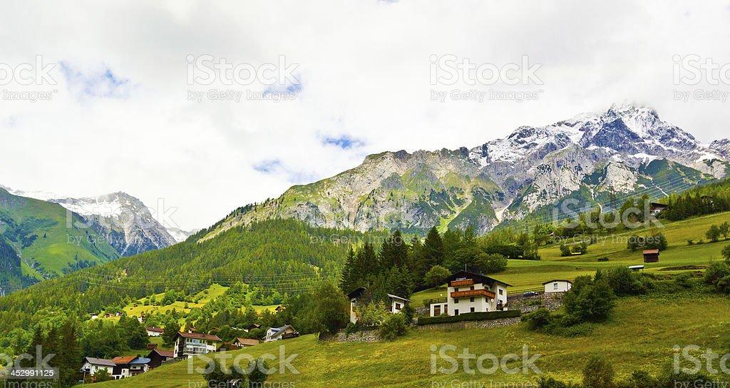 Alpine Village in Austria. royalty-free stock photo