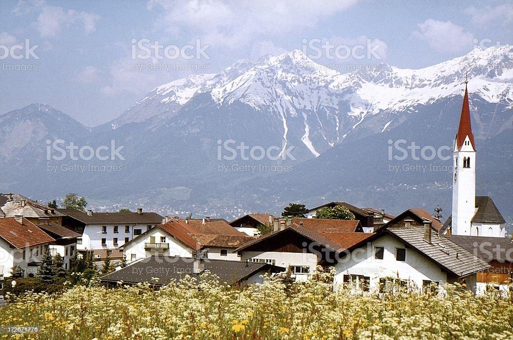 Alpine village royalty-free stock photo