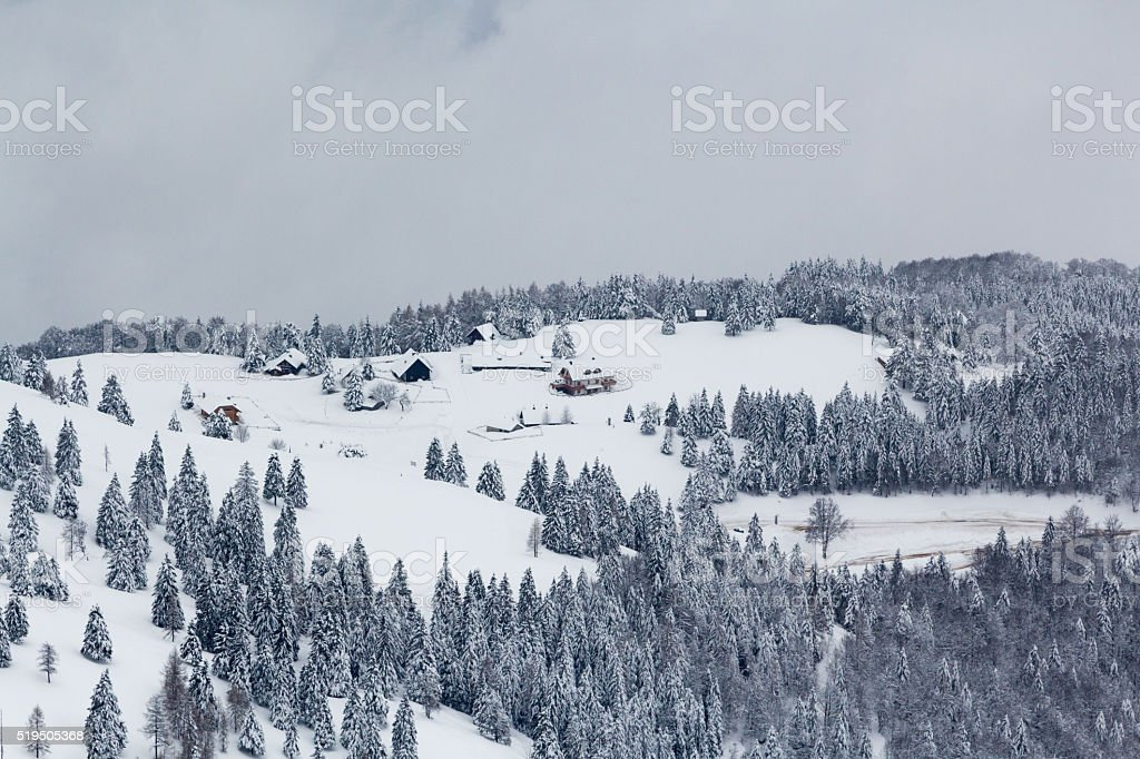 Alpine village. stock photo