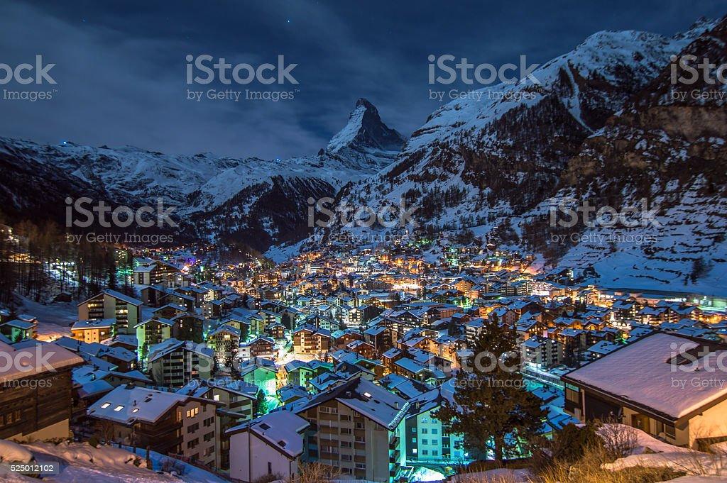 Alpine Village stock photo