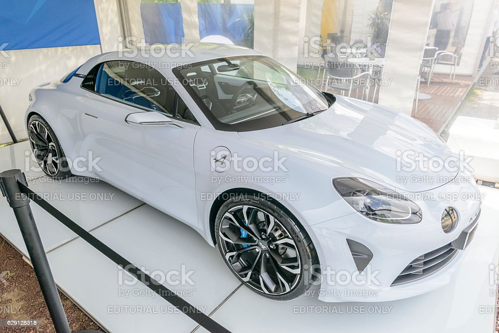 Alpine Vision Renault 2017 sports car stock photo