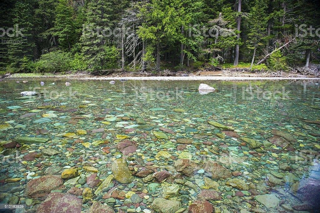 Alpine water in Glacier National Park stock photo