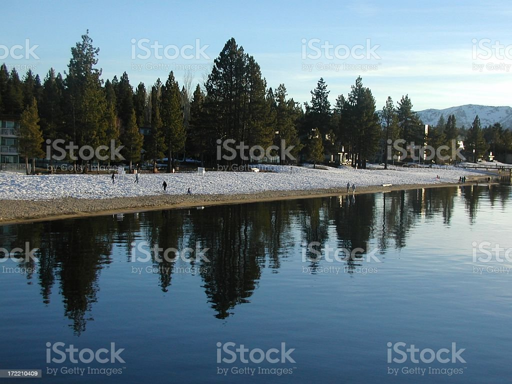 Alpine Winter Beach stock photo