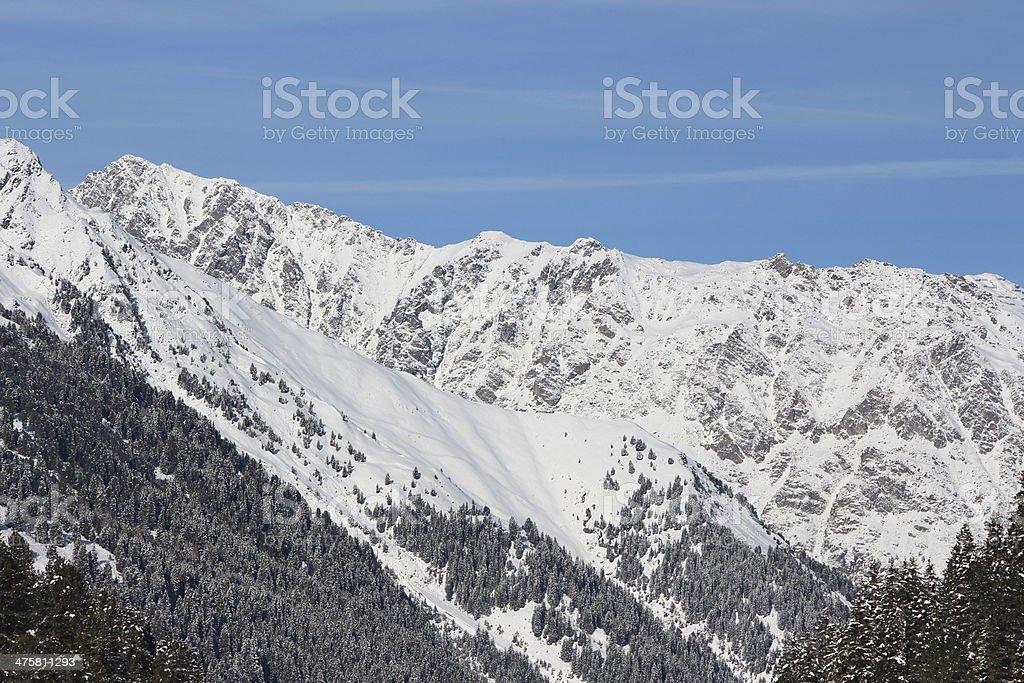 Alpine Winter Scenery in L?sens, Sellraintal, Tyrol, Austria royalty-free stock photo