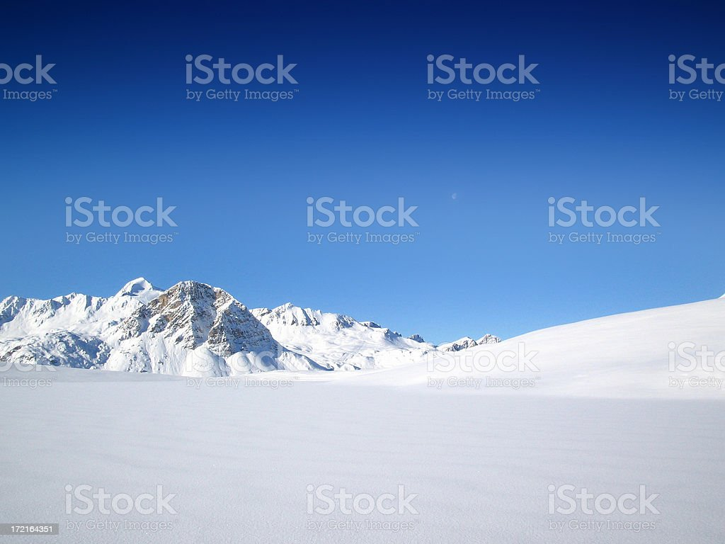 Alpine Winter Wonderland stock photo