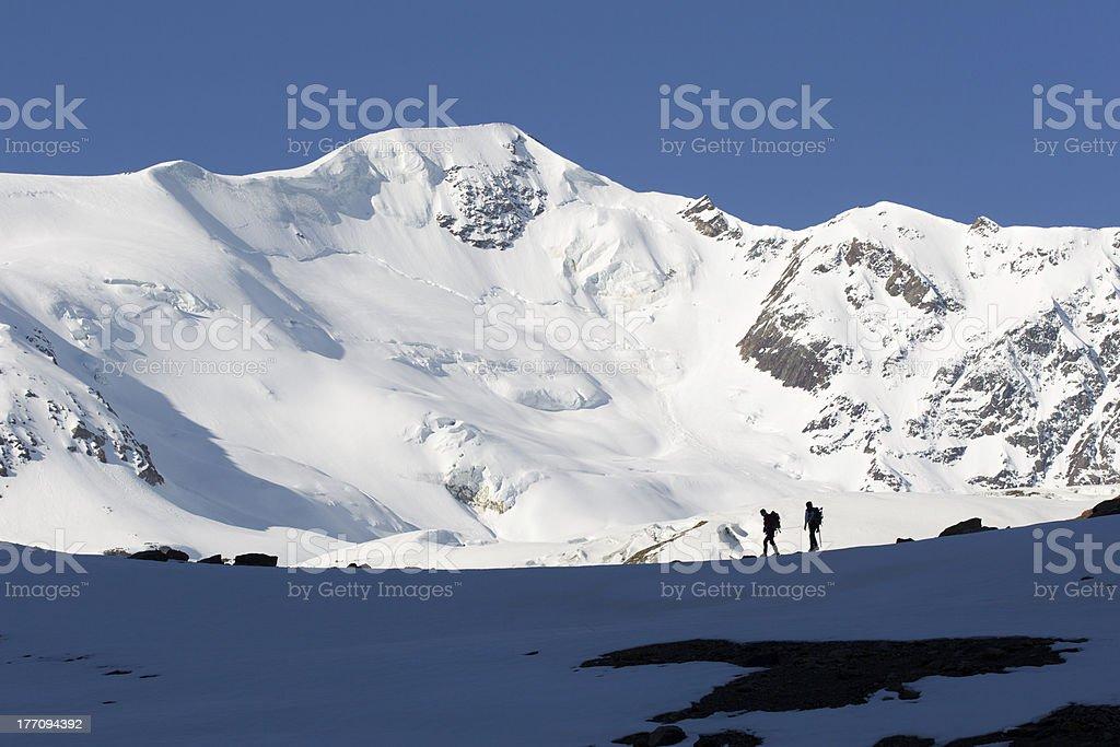 alpinismo St. Matteo,ghiacciaio dei Forni valfurva italy stock photo