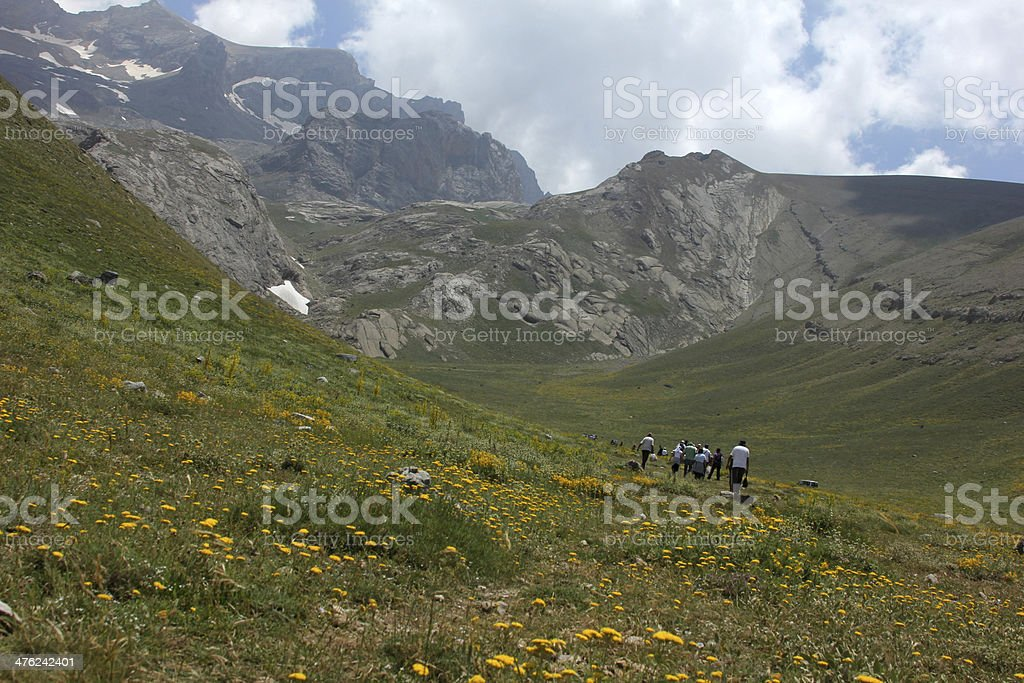 Alpinist royalty-free stock photo