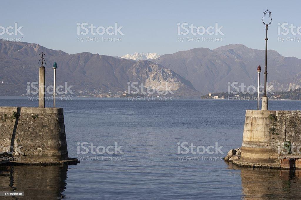 Alps and Lake stock photo