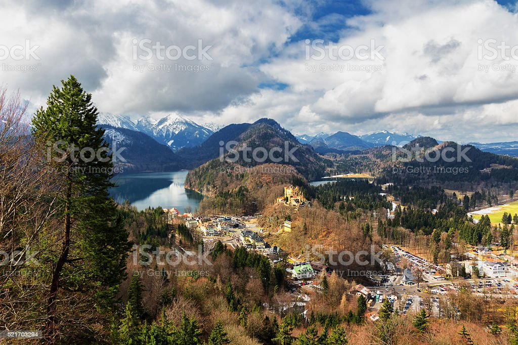 Alps and lakes in a summer day in Germany stock photo