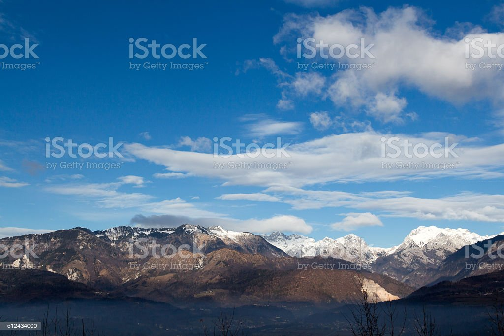 Alps and sky. stock photo
