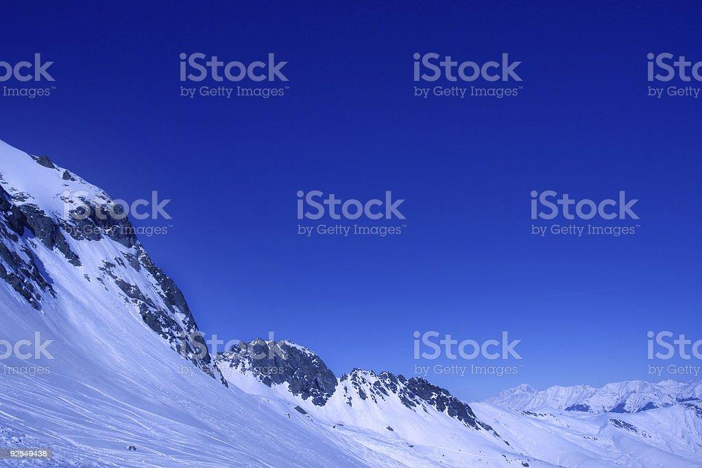 Alps at 3600 stock photo