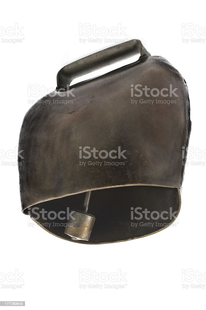 Alps cowbell stock photo