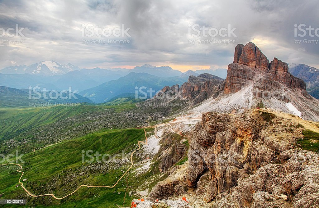 Alps Dolomites, Italy stock photo