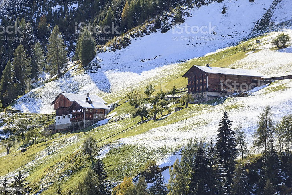Alps Farm stock photo
