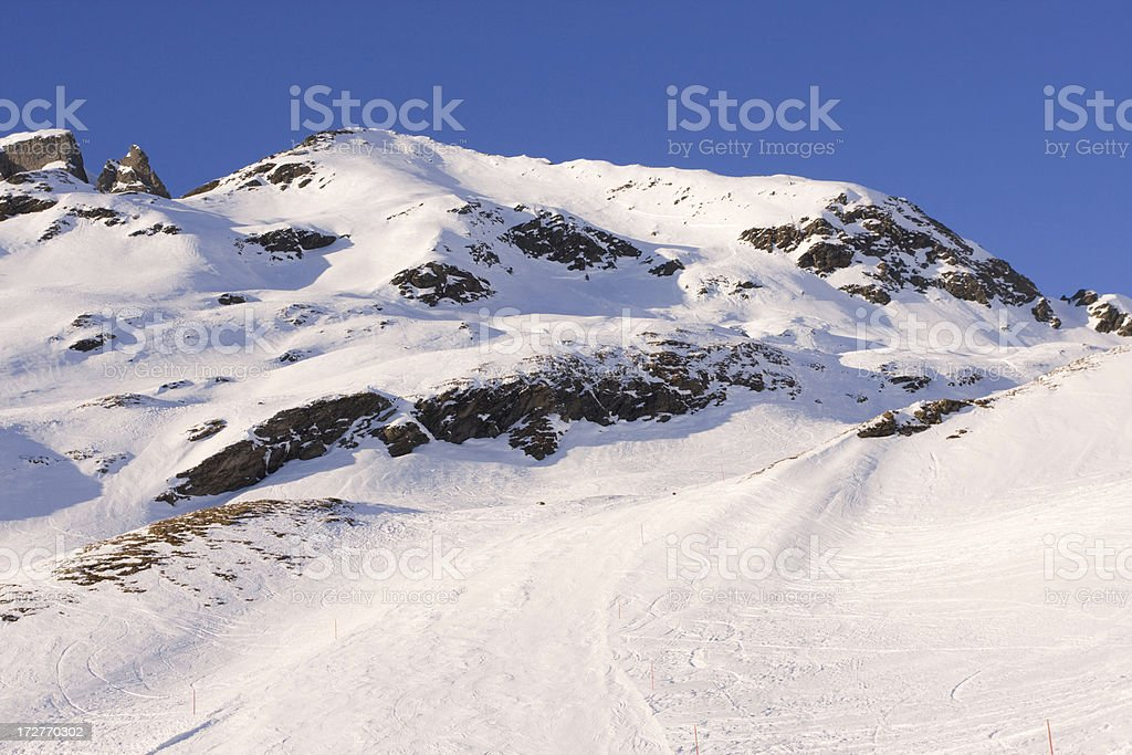 Alps in Afternoon Sun royalty-free stock photo
