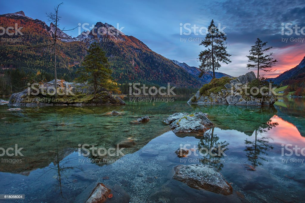 Alps in autumn. stock photo