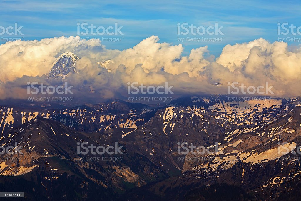 Alps in sunset scenery royalty-free stock photo