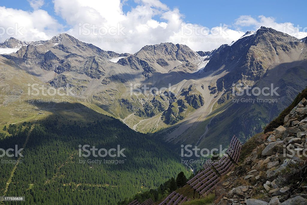Alps in the Vinschgau stock photo
