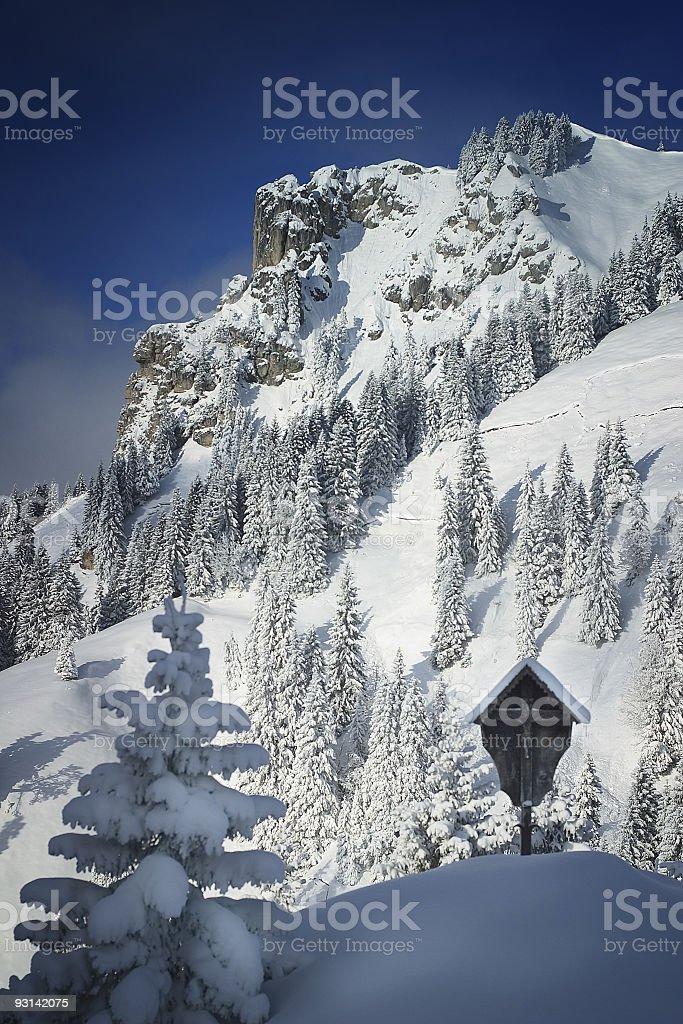 Alps in Winter stock photo