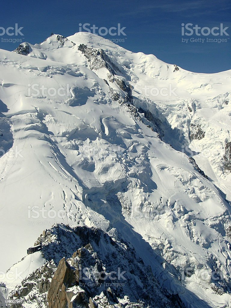 Alps, mont blanc mountain snow and avalance potential royalty-free stock photo