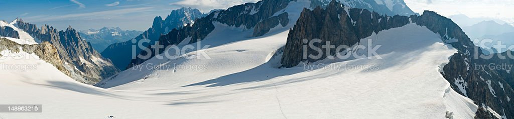 Alps Mont Blanc Vallée Blanche royalty-free stock photo