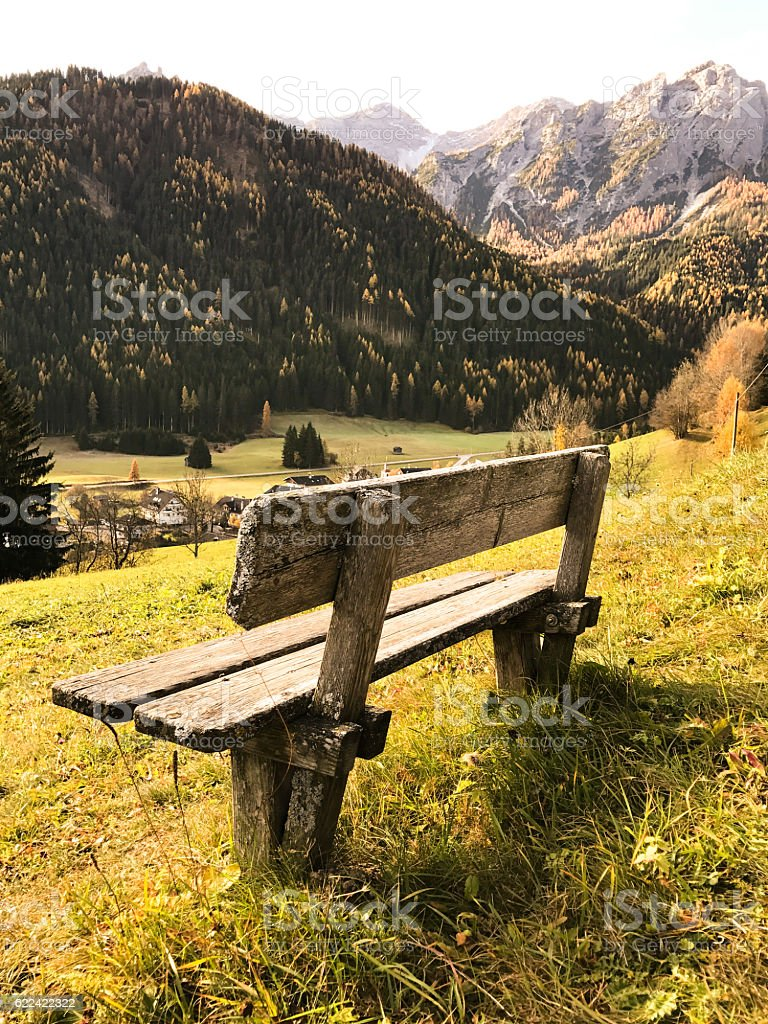 alps mountain landscape in autumn stock photo