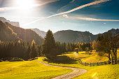 alps mountain landscape in autumn