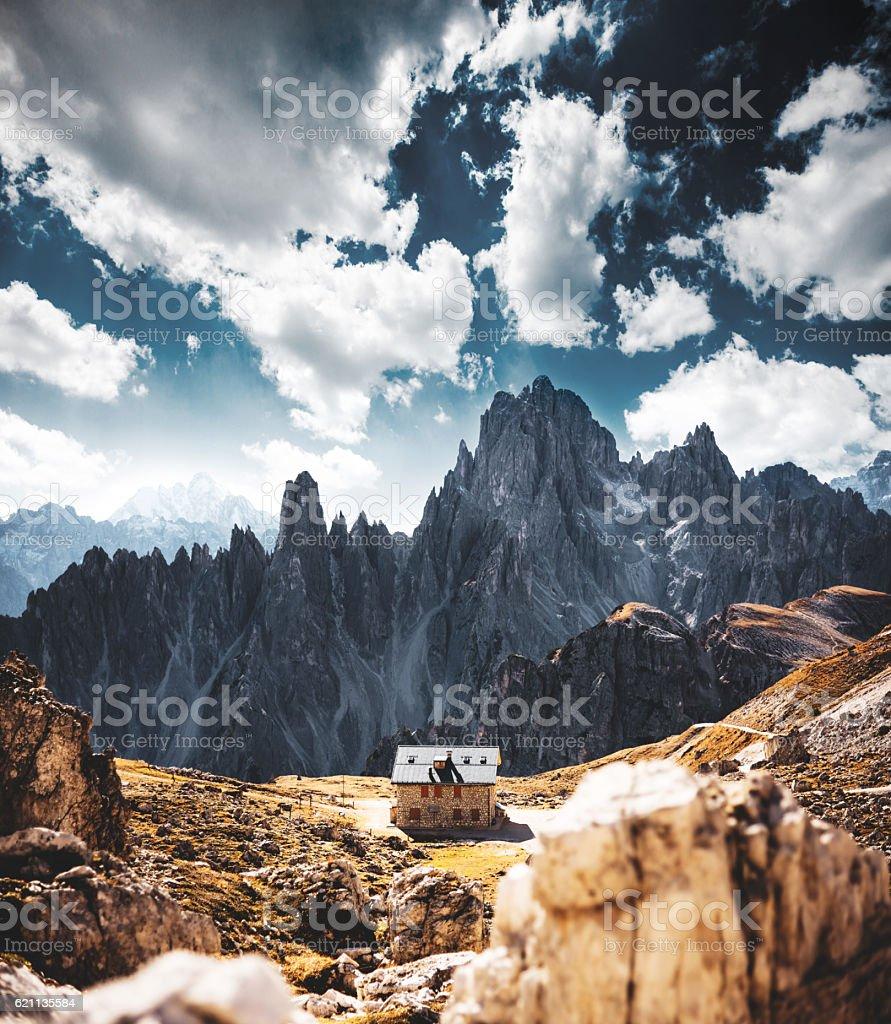 alps mountain landscape stock photo