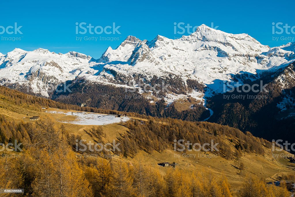 Alps mountains autumn stock photo