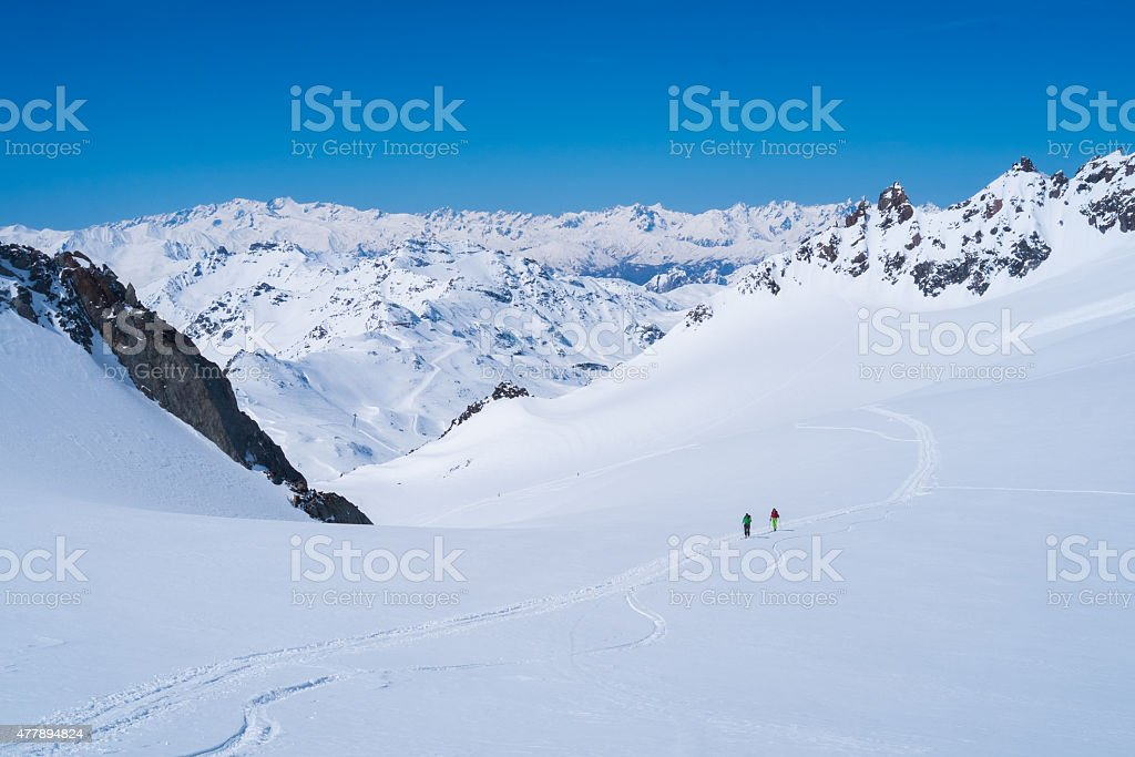 Alps mountains in winter stock photo
