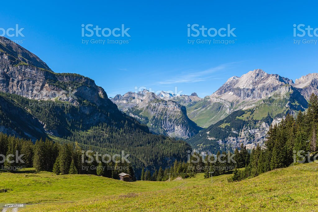 Alps near Kandersteg stock photo